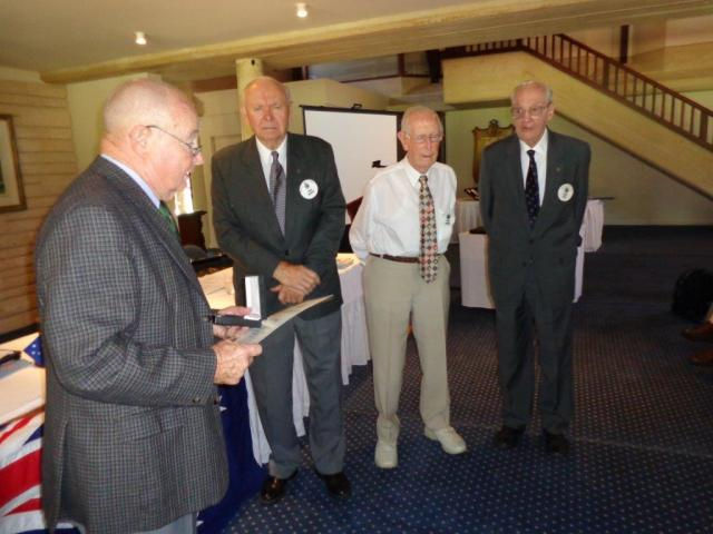 Recent President Arthur with 25-year recipients Noel, Ron and John